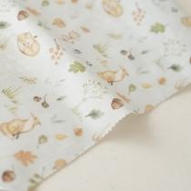 """Отрез ткани """"Forest story - Лисы в осеннем лесу"""" от Sisterscrap, 33х80 см"""