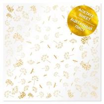 Ацетатный лист с фольгированием Golden Dill 30,5х30,5 см, пл.200 г/м