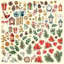 Лист с картинками для вырезания Our warm Christmas30,5х30,5 см