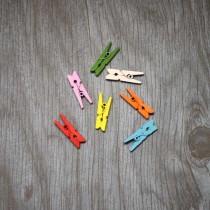 Набор Прищепок деревянных мини 25*8 мм, 7 штук