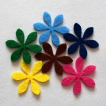 Набор вырубок из фетра цветы №13