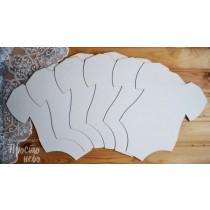 Заготовка для альбома, Боди, 6 листов в наборе размер 19,5х24,5