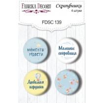 Набор скрапфишек из 4 шт. FDSC 139