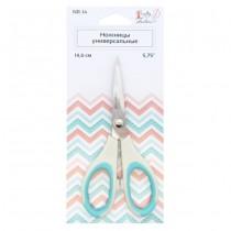 """Ножницы универсальные""""Crafty tailor"""" NR-14, 14,6см (пластиковые ручки с цветными резиновыми вставкам"""