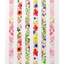 """Наклейки-уголки для фотографий """"Акварельные цветы"""", в наборе 72 шт."""