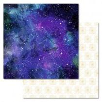 """Бумага """"Тайны вселенной. Созвездия"""" (ScrapMania), 30,5х30,5 см, пл. 180 гр/м2"""