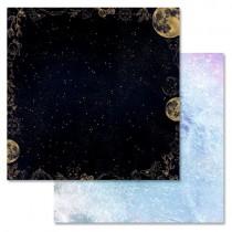 """Бумага """"Тайны вселенной. Ночное небо"""" (ScrapMania), 30,5х30,5 см, пл. 180 гр/м2"""