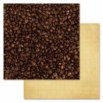 "Бумага ""Магия кофе. Арабика"" (ScrapMania), 30,5х30,5 см, пл.180 гр"