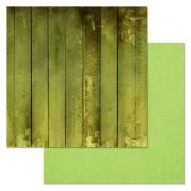 """Бумага """"Фономикс. Зеленый. Досочки"""" (ScrapMania)"""