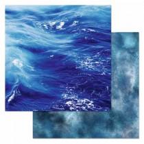 "Бумага ""Армейский альбом. Синее море"" (ScrapMania) размер 30,5х30,5 см, пл.180 гр/м2"