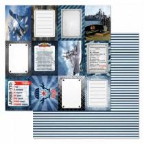 "Бумага ""Армейский альбом. Карточки"" (ScrapMania) размер 30,5х30,5 см, пл.180 гр/м2"