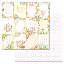 """Бумага """"Варенье из одуванчиков. Карточки"""" (ScrapMania) размер 30,5х30,5 см, пл.180 гр/м2"""