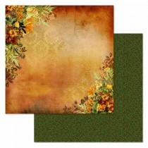 "Бумага ""Ворожея. Огненный цветок"" (ScrapMania) размер 30,5х30,5 см, пл.180 гр/м2"