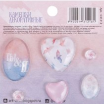 """Камешки декоративные """"Ты и я"""", 7,5 х 7,5 см"""