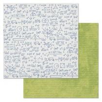 """Бумага """"Школьный вальс. Конспект"""" (ScrapMania), размер 30,5х30,5 см, пл.180 гр/м2"""