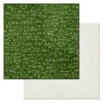 """Бумага """"Школьный вальс. У доски"""" (ScrapMania), размер 30,5х30,5 см, пл.180 гр/м2"""