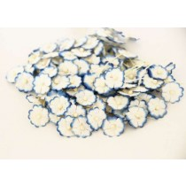Цветочки маленькие 1 см - голубой+белый 575 1 шт