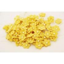 Цветочки маленькие 1 см - желтые 144 1 шт