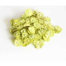Цветочки маленькие 1 см - зеленые 158 1 шт