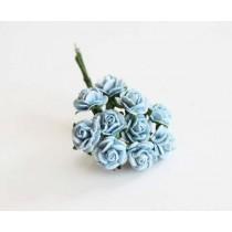Mini розы 1 см - Голубые 170 1 шт