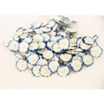 Цветочки маленькие 1 см - Св.голубой+белый 563 1 шт