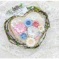 Набор цветов (розовые, голубые, белые, св.персиковые), 12 шт.