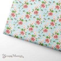 """Отрез ткани """"Пробуждение природы. Розы"""" (Scrapmania), размер 37х50см"""