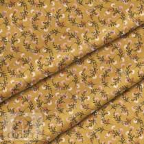 """Премиум хлопок """"Цветы на горчичном"""" размер 50х40 см., пл.150 гр/м2, Польша"""