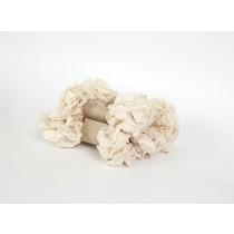 Шебби лента - Молочный 1м