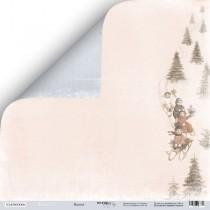Лист двусторонней бумаги 30x30 от Scrapmir Веселье из коллекции Shabby Winter