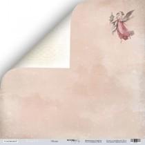Лист двусторонней бумаги 30x30 от Scrapmir Облака из коллекции Shabby Winter