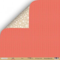 Лист двусторонней бумаги 30x30 от Scrapmir Плед из коллекции Hello Cristmas