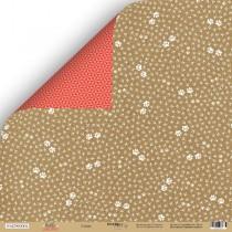 Лист двусторонней бумаги 30x30 от Scrapmir Следы из коллекции Hello Cristmas