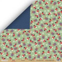 Лист двусторонней бумаги 30x30 от Scrapmir Подарки из коллекции Hello Cristmas