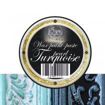 """Восковая краска-паста VINTAGE """"Turquoise pearl"""", 10 мл."""