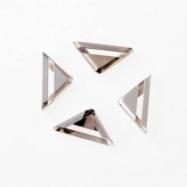 Уголок металлический с прорезью - серебро 16х16 мм., 1 шт.