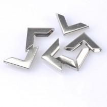 Уголок металлический плоский, цвет серебро, 16,5х16,5 мм., 1 шт.