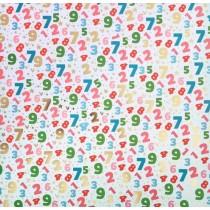 Бумага для скрапбукинга с фольгированием «Арифметика», 30.5 × 30.5 см, 250 г/м