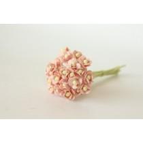 Цветы вишни мини - Розовоперсиковые светлые 124, 1 шт