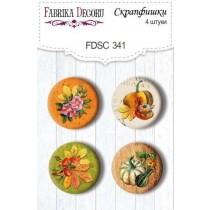 "Скрапфишки набор 4шт ""Botany autumn redesign"" #341"