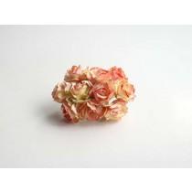 Кудрявые розы 3 см - Желтый+розовый 1 шт
