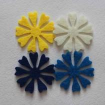 Набор вырубок из фетра цветы №3