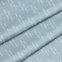 """Премиум хлопок """"Елки на серо-голубом"""" размер 50х40 см., пл.150 гр/м2, Польша"""
