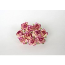 Кудрявые розы 3 см - Сиреневый+молочный диаметр ок. 3 см высота ок. 2 смдлина стебля ок. 8 см, 1 шт