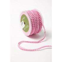 Лента May Arts Mini Pom Pom, ширина 0,95 см, цвет Pink, 1 метр