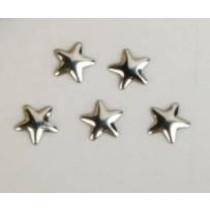"""Декор для творчества металл """"Звёзды"""" серебро набор 10 шт 0,6х0,6 см"""