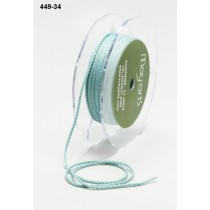 Лента May Arts Mini Cording, ширина 1 мм, цвет Light Blue, 1 метр