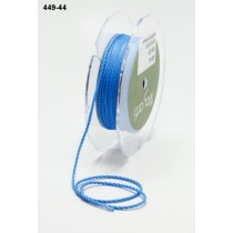 Лента May Arts Mini Cording, ширина 1 мм, цвет French Blue, 1 метр