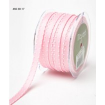 Лента May Arts Satin w/ Knotted Edge, ширина 0,95 см, цвет Pink, 1 метр