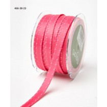 Лента May Arts Satin w/ Knotted Edge, ширина 0,95 см, цвет Hot Pink, 1 метр